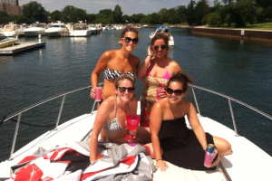 Babes on a boat for the Bachelorette!