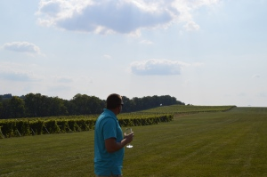 Adam in the landing strip, with vines as far as the eye can see!
