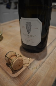 "We also had some champagne from our August trip to Oliver Winery to complete our ""Summer"" Celebration!"
