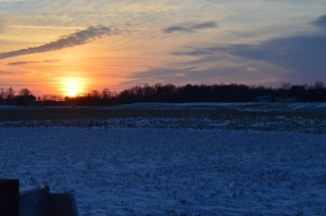 Last night's chilly sunset...