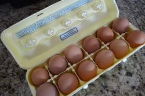 We have asked friends and family to help us out and save their egg cartons to store all the eggs.