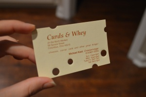 How cool is Curds and Whey's card?! It's like Swiss cheese!
