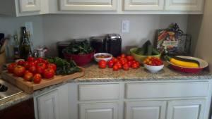Adam took this picture last August... So many veggies!