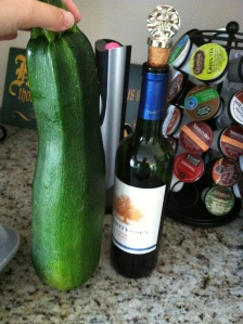 I thought this was a funny picture from last summer.  Zucc's the size of wine bottles!