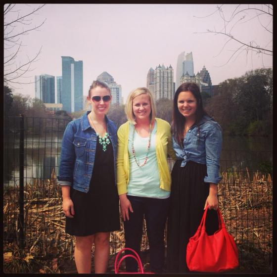 Girls at the park.  Loved the views of the city!