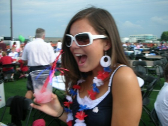 Dublin's 4th of July Celebration is half the reason why I love the Holiday so much.  Getting into the Patriotic spirit in 2006.