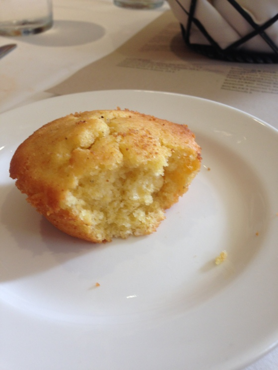 Yummy, mini corn bread muffins.
